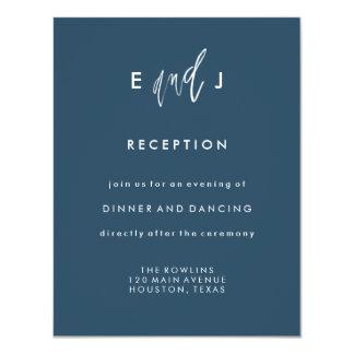 Ella y él tarjeta de la recepción nupcial del   invitación 10,8 x 13,9 cm