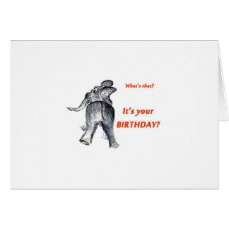 Ellie la tarjeta de cumpleaños del elefante