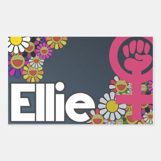 Ellie - Sheet of 4... Pegatina Rectangular