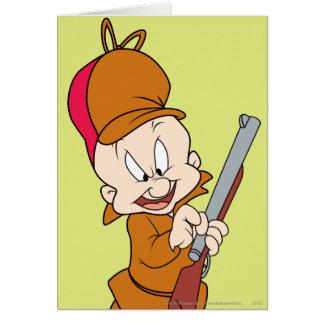 Elmer Fudd listo para cazar Tarjeta De Felicitación