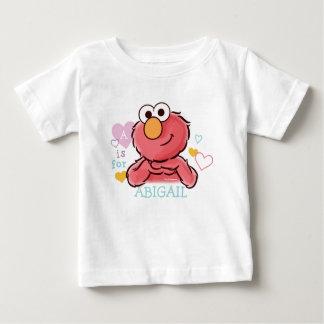Elmo adorable el | añade su propio nombre camiseta de bebé