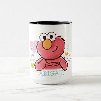 Elmo adorable el | añade su propio nombre taza
