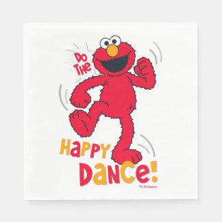 Elmo el | hace la danza feliz servilletas desechables
