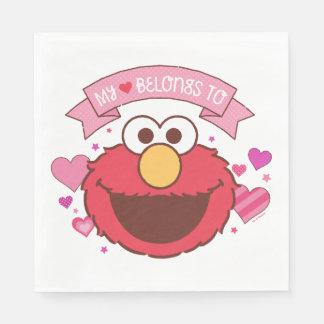 Elmo el | mi corazón pertenece a Elmo Servilletas Desechables