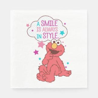Elmo el | una sonrisa está siempre en estilo servilletas desechables