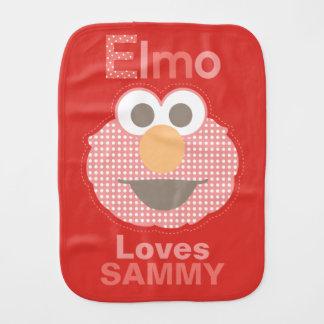Elmo le ama que los | añaden su nombre paño para bebés
