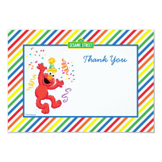 Elmo rayó cumpleaños le agradece las tarjetas invitación 8,9 x 12,7 cm
