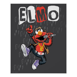 Elmo Rockin hacia fuera Póster