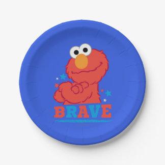 Elmo valiente plato de papel