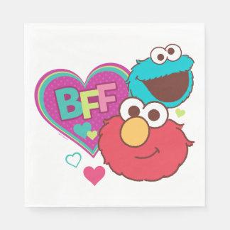 Elmo y monstruo de la galleta - BFF Servilletas De Papel