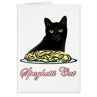 Elocuencia del gato de Spagehetti Tarjeta De Felicitación