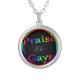 Elogie a los gays collar plateado