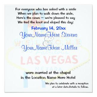 Elope la invitación de la boda de Las Vegas