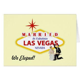 ¡Eloped! Casado en la tarjeta de Las Vegas