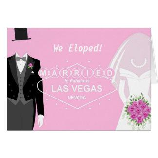 ¡Eloped! Casado en la tarjeta de Vegas