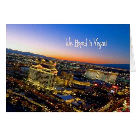¡Eloped en Vegas! Tarjeta