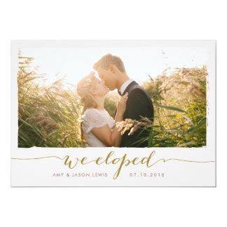 Eloped invitación del boda de la foto del |, falso