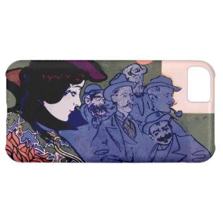 """""""Els Quatre Gats"""" cartel modernista de Ramón Casas Funda Para iPhone 5C"""