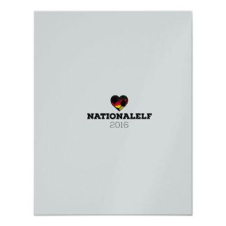 EM Nationalelf 2016 Alemania Invitación 10,8 X 13,9 Cm