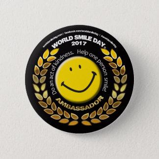 Embajador 2017 botón del día de la sonrisa del