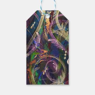 Embalaje abstracto en pavo real etiquetas para regalos