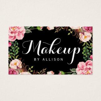 Embalaje floral femenino de la escritura moderna tarjeta de negocios