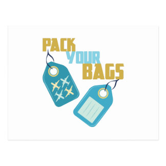 Embale sus bolsos postal