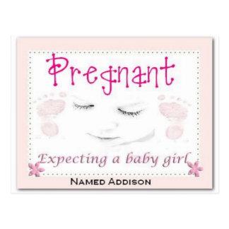 Embarazada con Addison Tarjetas Postales