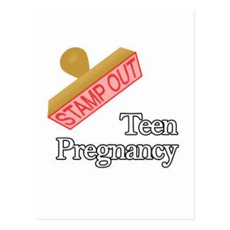 Embarazo adolescente postal