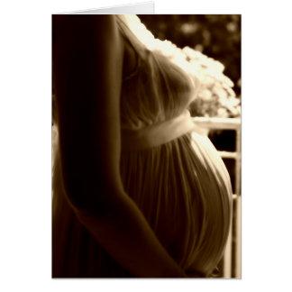 Embarazo de la tarjeta de felicitación