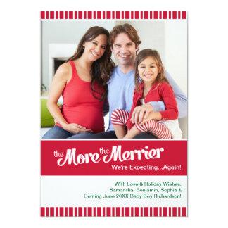 Embarazo del navidad que espera otra vez invitación personalizada