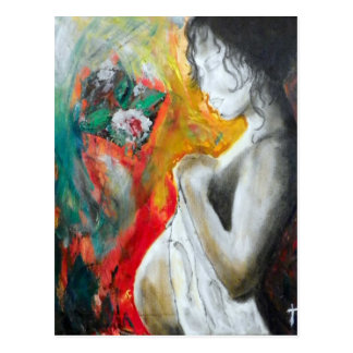 embarazo-pintura postal