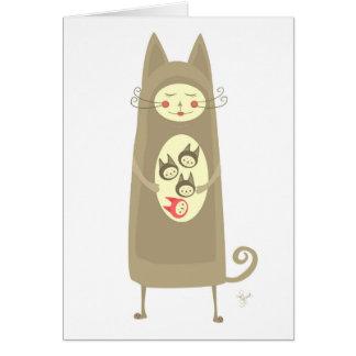 Embarazo único inesperado de la pata tarjeta pequeña