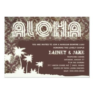 Embarcadero de la palma de Luau de la hawaiana de Invitación 12,7 X 17,8 Cm