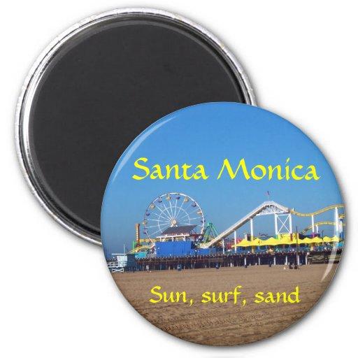 Embarcadero de la playa de Santa Mónica Imán De Frigorifico