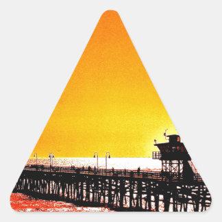 Embarcadero de San Clemente, California Calcomanía De Triangulo Personalizadas