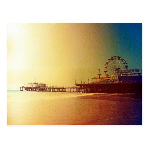 Embarcadero de Santa Mónica - la foto anaranjada d Tarjeta Postal
