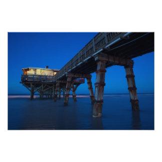 Embarcadero del océano impresión fotográfica