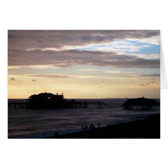 Embarcadero del oeste de Brighton Tarjeta De Felicitación