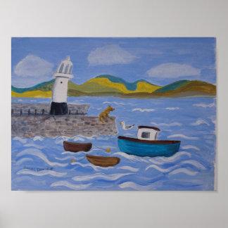 Embarcadero peculiar St Ives de Smeatons del Póster