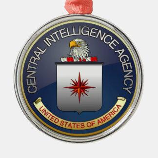 Emblema (CIA) de la CIA Adorno Navideño Redondo De Metal