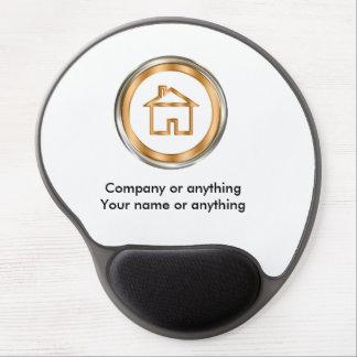 Emblema con clase de la casa del agente alfombrilla de ratón de gel