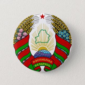 emblema de Bielorrusia Chapa Redonda De 5 Cm
