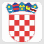 emblema de Croacia Pegatina Cuadradas