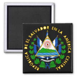 emblema de El Salvador Imán Cuadrado