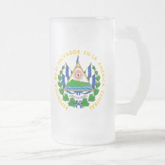 emblema de El Salvador Taza Cristal Mate