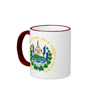 emblema de El Salvador Taza A Dos Colores