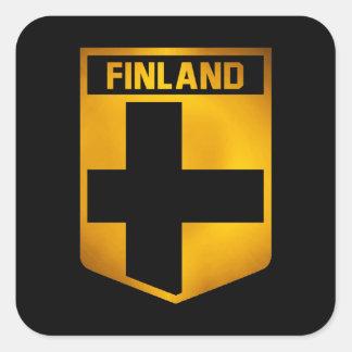 Emblema de Finlandia Pegatina Cuadrada