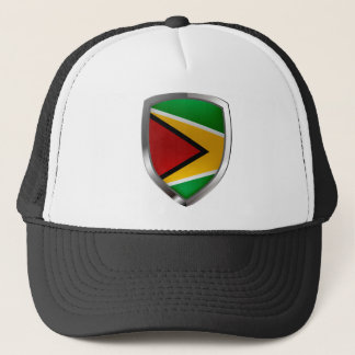 Emblema de Guyana Mettalic Gorra De Camionero