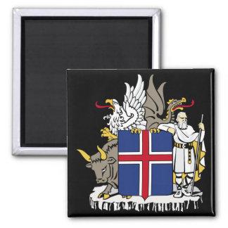 emblema de Islandia Imán Cuadrado